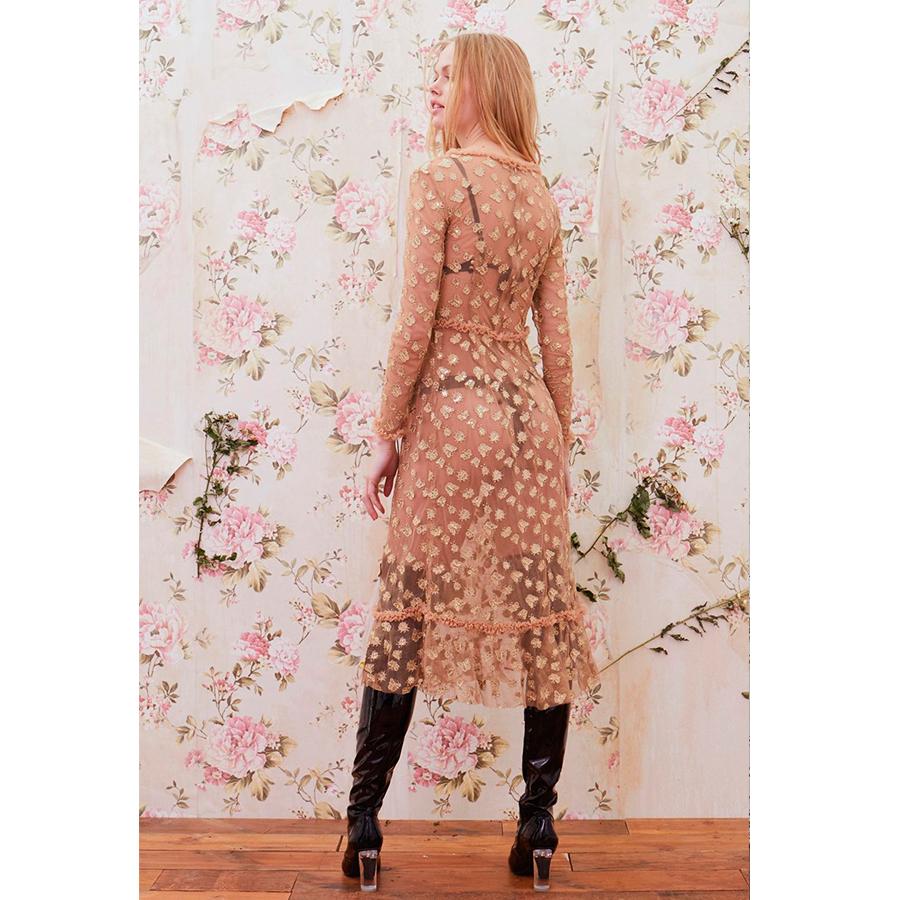 86f954cca3 For Love & Lemons Golden Garden Tulle Midi Dress – La Suite Online